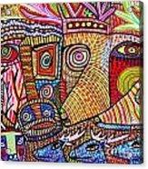 Mythical Zebra Deer Tribe Acrylic Print