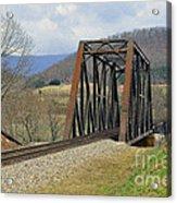 N W Railroad Trestle Acrylic Print