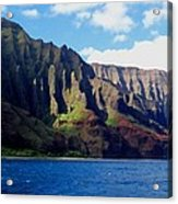 Na Pali Coast On Kauai Acrylic Print