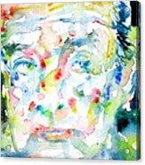Nabokov Vladimir - Watercolor Portrait Acrylic Print