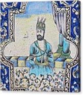 Nader Shah Qajar Ceramic Style Persian Art Acrylic Print