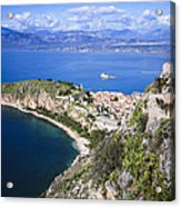Nafplio Peninsula Acrylic Print by David Waldo