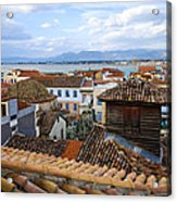 Nafplio Rooftops Acrylic Print by David Waldo