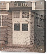 Nahma Club Collage Acrylic Print
