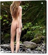 Naked Girl In The River  Acrylic Print