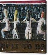 Naked Ladies At The Bar By David Lovins Acrylic Print