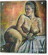 Naked Paris Acrylic Print