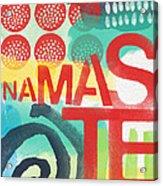Namaste- Contemporary Abstract Art Acrylic Print