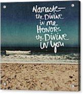 Namaste Waves  Acrylic Print