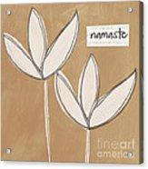 Namaste White Flowers Acrylic Print
