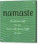 Namaste With Blue Waves Acrylic Print