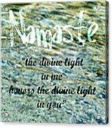 Namaste With Crystal Waters Acrylic Print