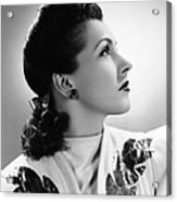Nancy Kelly, Universal Portrait By Ray Acrylic Print