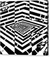 Nano Curcuits Maze  Acrylic Print