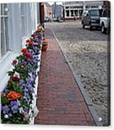 Nantucket Street Scene Acrylic Print