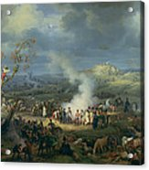 Napoleon 1769-1821 Visiting A Bivouac On The Eve Of The Battle Of Austerlitz, 1st December 1805 Acrylic Print