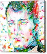 Napoleon Bonaparte - Watercolor Portrait Acrylic Print