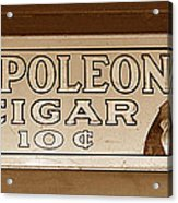 Napoleon Cigars Acrylic Print