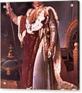 Napoleon In His Coronation Robes  Acrylic Print