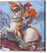 Napoleon On A Horse In The Alps Acrylic Print