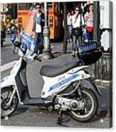 Napoli Police Scooter Acrylic Print