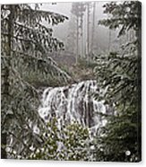 Narada Fall Mt Rainier II Acrylic Print