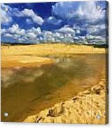 North Curl Curl With Clouds Acrylic Print