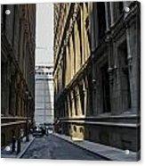 Narrow Manhattan Street Acrylic Print