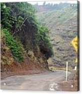 Narrow Road - North Maui Acrylic Print