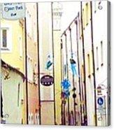 Narrow Street In Passau Germany Acrylic Print