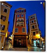 Narrow Streets And Buildings - Rovinj Croatia Acrylic Print