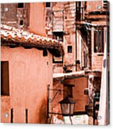 Narrow Streets Of Albarracin  Acrylic Print
