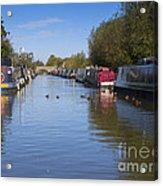 Narrowboats Acrylic Print