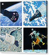 Nasa Manned Spacecraft Of The 1960's. Acrylic Print