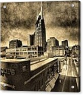 Nashville Grunge Acrylic Print