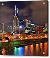Nashville Is A Colorful Town Acrylic Print