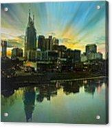 Nashville Over The Cumberland Acrylic Print