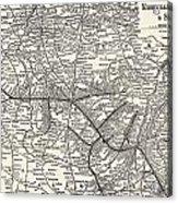 Nashville Railway Map Vintage Acrylic Print