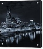 Nashville Skyline At Night Acrylic Print