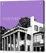 Nashville Skyline Belle Meade Plantation - Violet Acrylic Print