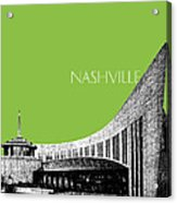 Nashville Skyline Country Music Hall Of Fame - Olive Acrylic Print by DB Artist