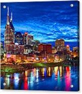 Nashville Skyline Acrylic Print by Dan Holland
