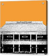 Nashville Skyline Grand Ole Opry - Orange Acrylic Print by DB Artist