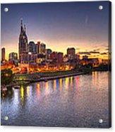 Nashville Skyline Panorama Acrylic Print