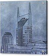 Nashville Skyline Sketch Acrylic Print