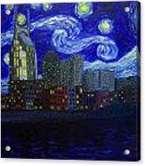 Dedication To Van Gogh Nashville Starry Nights Acrylic Print