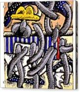 Nassau Junkanoo 1 Acrylic Print by Philip Slagter