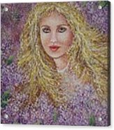 Natalie In Lilacs Acrylic Print