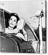 Natalie Wood At A Drive-in Acrylic Print