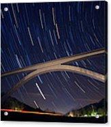 Natchez Trace Bridge At Night Acrylic Print